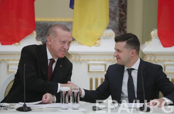Президент Турции Реджеп Эрдоган и президент Украины Владимир Зеленский
