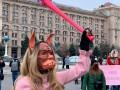 Марш за права женщин переместился к Крещатику