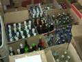 В Киеве накрыли склад с контрафактным алкоголем