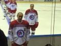 Путин вышел на лед в Ночной хоккейной лиге