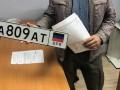 Экс-сотрудник МВД ездил по Киеву на автомобиле с номерами