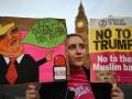 В Британии прошли протесты против визита Трампа