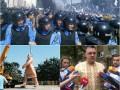 Неделя в фото: бойня под Радой, Ленин на тросе и Тягнибок на допросе