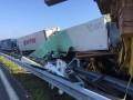 В Болгарии в ДТП попали 20 грузовиков, есть жертвы