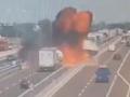 Появилось видео взрыва автоцистерны в итальянской Болонье