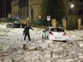 Рим накрыла буря: Улицы в глыбах снега и льда