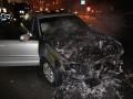 В центре Киева на ходу загорелся внедорожник