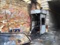 В центре Киева сгорел пост для охраны, охранник погиб