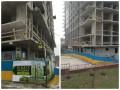 В Киеве строят дом вокруг фонарного столба