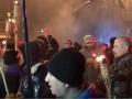 Годовщина Майдана: люди с факелами пошли к АП