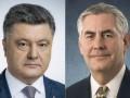 Порошенко обсудил с Тиллерсоном размещении миротворцев в Донбассе