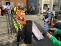 С гробами, животными и укусами за нос: В Одессе прошли необычные акции протестов