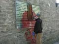 В Таллине облили краской барельеф Борису Ельцину