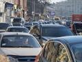 Дороги Киева сковало вечерними пробками