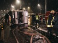 В Киеве фура раздавила легковушку с водителем