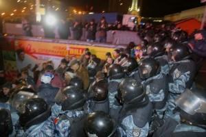 Ночью 30 ноября Евромайдан разогнал Беркут