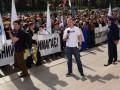 Спортсмены пикетировали Киевсовет, требуя финансовых льгот
