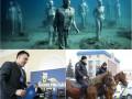 День в фото: Бандеровские чтения, полиция на конях и подводные скульптуры