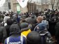 Протестующие пытались заблокировать нардепов в Раде
