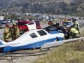 В Калифорнии самолет упал на шоссе с автомобилями
