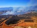 Пожар угрожает развалинам Микены. Фоторепортаж