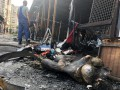 В Киеве пожар полностью уничтожил торговый ряд