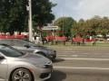 В Минске военные с флагами закрыли цепь солидарности