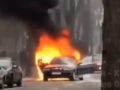 В Киеве сгорел припаркованный BMW