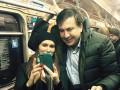 Саакашвили прокатился в харьковском метро и сделал селфи с пассажирами