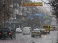 Снегопад в Киеве: центр столицы встал в пробках