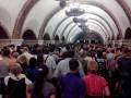 Неисправный эскалатор стал причиной паники в Киевском метро (ФОТО)