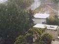 Улицы Харькова засыпало градом и мокрым снегом