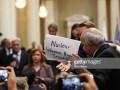 Активиста вывели из зала перед пресс-конференцией Трампа и Путина