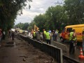 В Чернигове ливень затопил переход и стал причиной провала асфальта