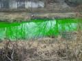 Река Ингул в Кировограде приобрела изумрудный цвет