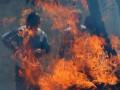 В Одесской области возник пожар на 500 кв. м авторынка