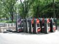 В Краматорске построили баррикады из игровых автоматов (фото, видео)
