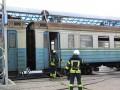 В Славянске загорелась электричка