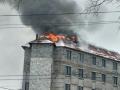 Во Львове сильный пожар произошел в офисном центре