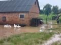 В Ровенской области дома ушли под воду из-за непогоды