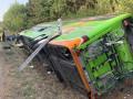 В Германии перевернулся автобус: 16 пострадавших