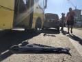 В Киеве маршрутка врезалась в Subaru