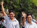 В Мьянме двух журналистов Reuters выпустили на свободу