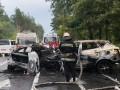 Причиной ДТП под Киевом могла стать разметка - СМИ