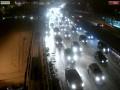 Пробки в Киеве достигли 9 баллов из-за снега и митингов