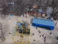 Снесенный аттракцион на Трухановом острове показали с воздуха