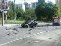 Взрыв Mercedes в Киеве