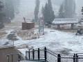 Калифорнию засыпало снегом после месяцев пожаров