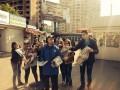 Зомби в Киеве: активисты провели акцию против газеты Вести