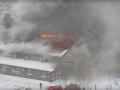 В Сумах большой пожар, загорелся спортивный клуб